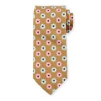 Peter MillarFlower-Print Silk-Cotton Blend Tie, Khaki