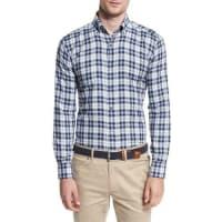 Peter MillarGlacier Check Sport Shirt, Barchetta Blue