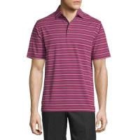 Peter MillarGlenwood Striped Jersey Short-Sleeve Polo Shirt, Wine