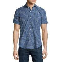 Peter MillarOcean Traffic Printed Short-Sleeve Sport Shirt, Barchetta Blue