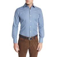 Peter MillarSan Juan Gingham Oxford Shirt, Hawaiian Blue