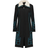 Peter PilottoMaze Embroidered Wool Coat - Black