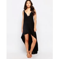 PhaxBeach Dress with Aysmetric Hem - Black