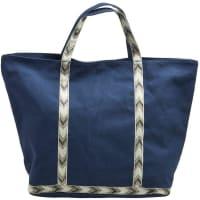PiecesLeinen-Tasche blau