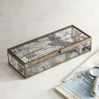 Pier 1 ImportsAntiqued World Map Glass Box - Small