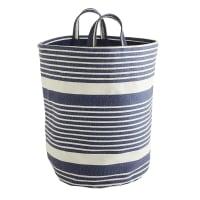 Pier 1 ImportsBlue & White Striped Laundry Tote