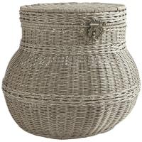 Pier 1 ImportsCollin Gray Wicker Round Storage Basket