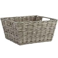 Pier 1 ImportsCollin Gray Wicker Small Shelf Storage Basket