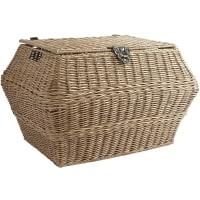 Pier 1 ImportsCollin Light Brown Wicker Rectangular Storage Basket