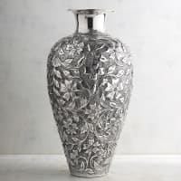 Pier 1 ImportsFloral Embossed Silver Tall Vase