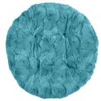 Pier 1 ImportsFuzzy Teal Papasan Stool Cushion