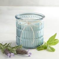 Pier 1 ImportsGlacier Mint Ribbed Filled Jar Candle