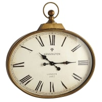 Pier 1 ImportsGolden Antiqued Wall Clock
