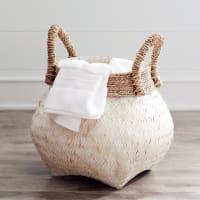 Pier 1 ImportsJulianna White & Natural Wicker Basket