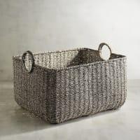 Pier 1 ImportsLoft Gray Large Rectangular Basket