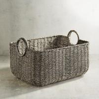 Pier 1 ImportsLoft Gray Small Rectangular Basket