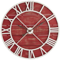 Pier 1 ImportsOversize Red Rustic Wall Clock