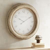 Pier 1 ImportsOversized Whitewashed Merville Wall Clock