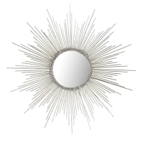 Pier 1 ImportsPetite Silver Burst Round Mirror