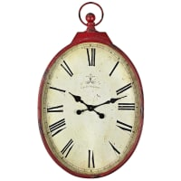 Pier 1 ImportsRed Antiqued Wall Clock