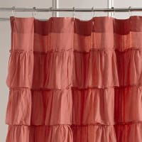 Pier 1 ImportsRuffled Coral Shower Curtain