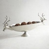 Pier 1 ImportsSilver Deer Heads Oval Decorative Bowl