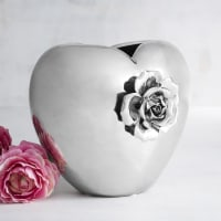 Pier 1 ImportsSilver Heart with Rose Vase