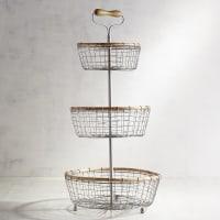 Pier 1 ImportsTiered Silver Wire Basket