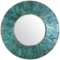 Pier 1 ImportsTurquoise Mother-of-Pearl Round Mirror