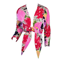 Pierre CardinRare Vintage Pierre Cardin Haute Couture Ss1989 Floral Cropped Bolero Shrug Top