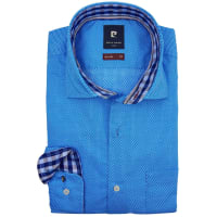 Pierre CardinSALE Pierre Cardin shirt blauw motief stretch