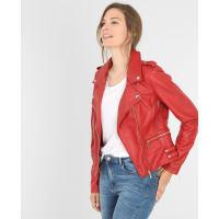 PimkieJacke im Biker-Stil Rot, Größe 32 -Pimkie- Mode für Damen