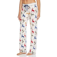 PJ SalvageReindeer Velour Thermal Pajama Pants
