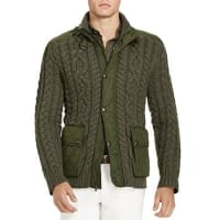 Polo Ralph LaurenCable Knit Hybrid Sweater Jacket - 100% Bloomingdales Exclusive