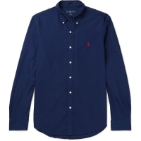 Polo Ralph LaurenSlim-fit Button-down Collar Cotton Shirt - Navy