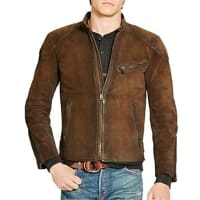 Polo Ralph LaurenSuede Cafe Racer Jacket