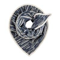 Pom AmsterdamSjaals-Shawl Soft Stripes-Blauw