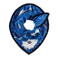 Pom AmsterdamSjaals-Shawl Japanese Blossom-Blauw