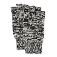 PortolanoMarled Fingerless Gloves, Black/Latte