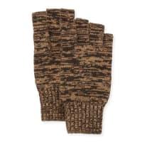 PortolanoMarled Fingerless Gloves, Dark Brown/Hazelnut