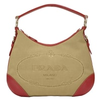 Prada2000 Prada Hobo Bag With Red Trimming