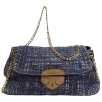 Prada2010s Prada Denim Tweed Bag