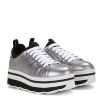 PradaPlateau-Sneakers aus Metallic-Leder
