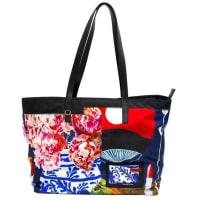 PradaBlack Printed Nylon Tote Bag