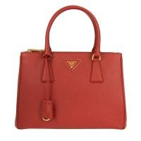 PradaHenkeltaschen - Borsa A Mano Saffiano Lux Fuoco - in rot für Damen