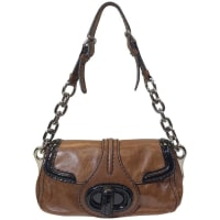 PradaBrown And Black Leather Handbag