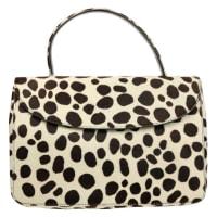 PradaLeopard Print Pony Hair Flap Handbag