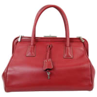 PradaMadras Doctor Bag In Red Leather