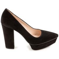PradaPumps & High Heels for Women On Sale in Outlet, Black, Suede leather, 2016, 8 9