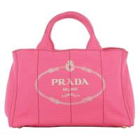 PradaUmhängetaschen - Canapa Shopping Bag Peonia - in pink für Damen